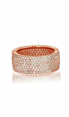Rose Gold Seven-Strand Eternity Ring ♥ I Love Jewelry, Jewelry Box, Jewelery, Diamond Wedding Rings, Eternity Ring, Diamond Are A Girls Best Friend, Ring Earrings, Beautiful Rings, Fashion Jewelry