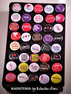 """I Love To Dance Pinback Button 1 Inch Button by EclecticAims, $1.00>> """"Ballet, like a sport only harder."""" <3"""