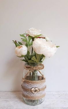 DIY Wedding Centerpieces surprising info reference 4089542612 - The best chic suggestions to make a truly delightful yet dazzling setting. Country Wedding Centerpieces, Wedding Jars, Vintage Centerpieces, Vase Centerpieces, Wedding Table, Diy Wedding, Wedding Flowers, Wedding Decorations, Wedding Ideas