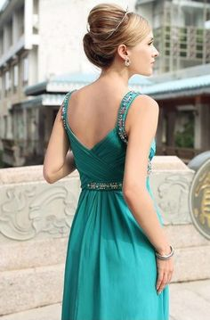 Jewelled Turquoise Cocktail Dresses