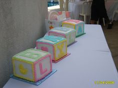 Baby Shower Block Cake 3