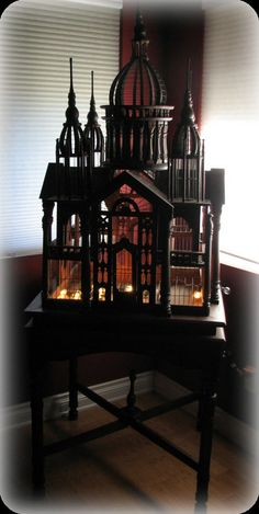 Antique Victorian Mahogany Birdcage and Stand on Etsy, $1,482.00