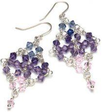 Diamond Net Earrings