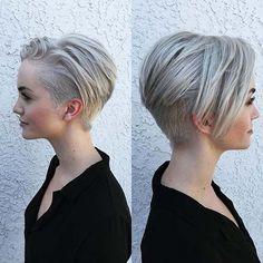 Chic Short Haircuts: Popular Short Hairstyles for 2019 - Frisuren Site Hairstyles Haircuts, Cool Hairstyles, Short Haircuts, Trendy Haircuts, Short Undercut Hairstyles, Undercut Pixie Haircut, Fashionable Haircuts, Undercut Styles, Haircut Short