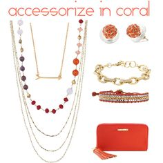 Accessorize in Coral with Stella and Dot!