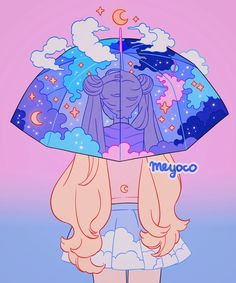 Moon Umbrella, an art print by Meyoco Cartoon Kunst, Anime Kunst, Cartoon Art, Anime Art, Moon Cartoon, Wallpapers Sailor Moon, Sailor Moon Wallpaper, Cute Wallpapers, Phone Wallpapers