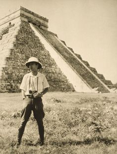 An informal portrait of photographer and explorer Luis Marden in Chichen Itza, Mexico, 1936. Photograph by Luis Marden, National Geographic