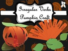 I am so happy that I got the chance to share this product with you. My students were very excited by this activity and I hope yours will be too. What you get in the pack:-1 page containing 3 leaves: 2 for on top of the pumpkin, and 1 for the bottom.-4 pages of irregular verbs (  9 per page ) How I used it:The steps that you need to follow are attached in the preview of my product. -I printed them on green, respectively orange colored cardboard, and give each student one paper with leaves and…