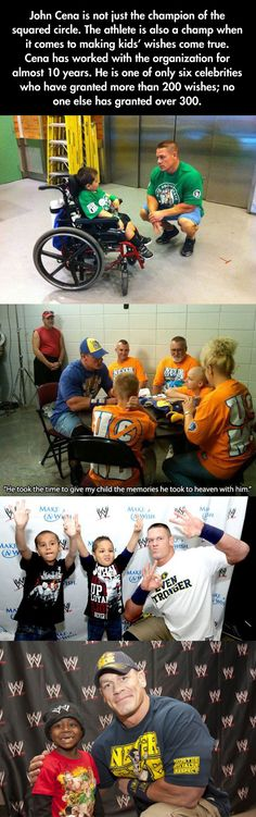 John Cena With Make-A-Wish Kids - Now THIS is the way celebrities should act.