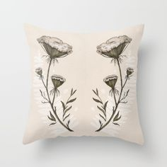 Buy Queen Anne's Lace Throw Pillow by Jessica Roux . Worldwide shipping available at Society6.com. Just one of millions of high quality products available.