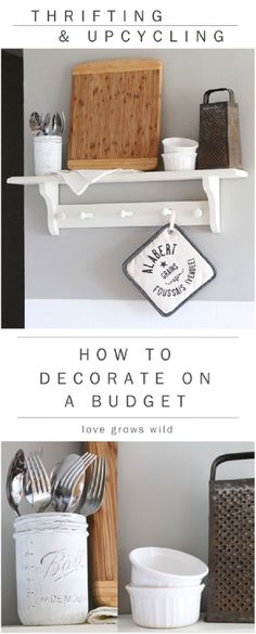 THRIFTING AND UPCYCLING: HOW TO DECORATE ON A BUDGET