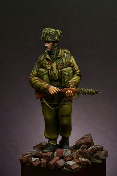 British paratrooper - Arnhem 1944  by Adrian Smith