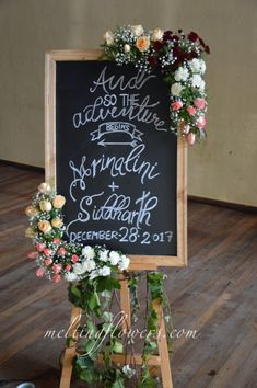 Name Board Decoration For Wedding at Temple Tree Leisure Bangalore