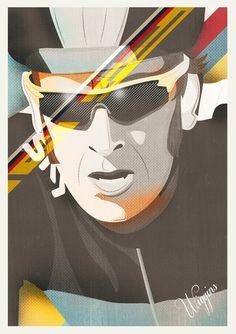 Tour de France Portraits by Neil Stevens, via Behance www.boxerbranddesign.com/blog