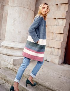 As if the contemporary, collarless shape wasn't enough, Boden's Sienna Coat is also in the season's most covetable fabric – mohair. Wear it when only your most stylish self will do