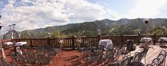 Incredible view for ceremony at Lookout Cabin
