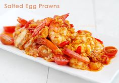 Salted Duck Egg Yolk Prawns. I'm not sure what to classify this as. The person who came up with this is Malay, but is this really Malaysian food?