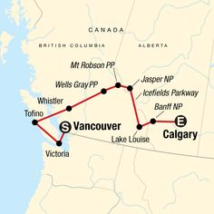 Sta travel canada trip full itinerary Route map for National Parks of the Canadian Rockies Westbound (NCRU) Alberta Canada, Banff Canada, Vacation Destinations, Vacation Trips, Vacations, Canada Travel, Travel Usa, Travel Nation, Easy Rider