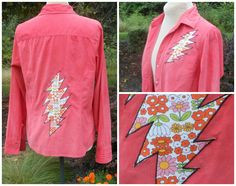 Grateful Dead Inspired 13 Point Bolt Corduroy. Upcycled with Love by NomadicBubble