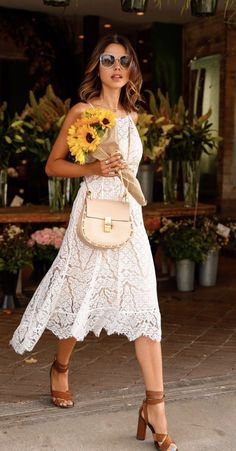 ~~~STITCH FIX SPRING TRENDS! gorgeous white dress with nude underlay. Loving the cross body purse. Try stitch fix today! Just click the picture to get started :) #affiliatelink
