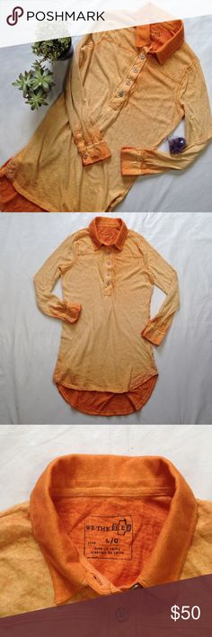 We The Free long sleeve shirt dress Long sleeve Henley style shirt dress. Great condition. Free People Dresses Long Sleeve