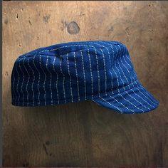 a0362e69798 Circle A Brand-Wabash Stripe Twill Oiler Cap