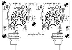 Stereo Eintakt-A-Endstufe mit der Dc Circuit, Circuit Diagram, Electronic Circuit Projects, Electronics Projects, Bude, Radios, Valve Amplifier, Electronic Schematics, Vacuum Tube