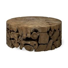 Rastik is a solid round Indonesian teak wood coffee table that is hand made from the roots of the tree which have been assembled like a puzzle to produce a unique one of a kind table that will bring years of enjoyment. Each table shows the uniqueness of the wood grain and growth patterns and will be unique to you.