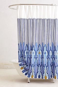 Peacock Quills Shower Curtain #anthropologie