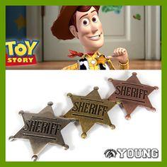 SHERIFF(保安官)ピンバッジ。「TOY STORY」ウッディのコスプレ! #TOYSTORY