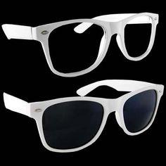 2c86e7154ff Lot of 2 Nerd Glasses Buddy Holly Wayfarer Black and White Frame Clear Dark  Lenses