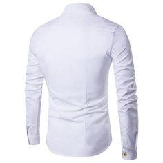 Mens Dress Shirts, Double Breast Mens Shirts, Slim Fit Casual Shirt-Shirt-LeStyleParfait.Com
