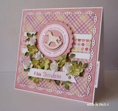 Kartka na roczek  - Kartki Dziecięce - Kartki - Scrapbooking Baby Cards, Frame, Scrapbooking, Decor, Kid, Bebe, Picture Frame, Decoration, Scrapbooks