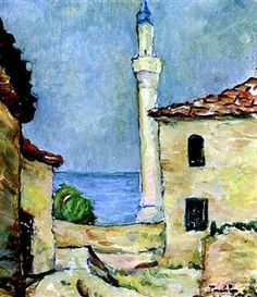 Nicolae Tonitza - Lighthouse in Balchik Van Gogh, Lighthouse Art, Post Impressionism, Inspirational Artwork, Art Database, Oil Painting Reproductions, Art World, Love Art, Landscape Paintings
