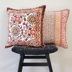 Anokhi Cotton Hand Block Printed Cushion