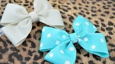 how to make bows out of short pieces of ribbo - YouTube