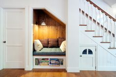 Decorating nooks staircase farmhouse with under stair storage wall sconce stair nook