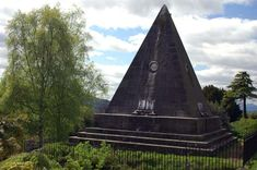 Star Pyramid located in the Valley Cemetery by the Church of The Holy Rude (Rude means Cross), Stirling. The Pyramid was built by William Drummond in 1863.