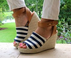 Today's Everyday Fashion: Payless x 2 — J's Everyday Fashion Js Everyday Fashion, Striped Wedges, American Rag, Espadrilles, Shoes Heels, Clothes, Heaven, Stripes, Women