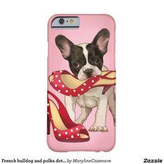 Franse buldog en stipschoen barely there iPhone 6 hoesje
