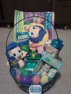 Easter basket for my 4 year old daughter basket includes bubble guppies easter basket for my toddler negle Image collections