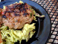 southwest turkey burgers w/ avo slaw