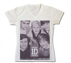 one direction shirts - one direction merchandise - v neck printed shirt