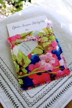 Birth announcement - hand sewn pouch to include a card plus photos of the baby. Great idea!