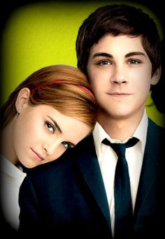 """Emma Watson and Logan Lerman! Like Emma Stone. Emma Watson deserves to be in the """"Looking Good There"""" board. I just love Logan's suit in the """"Perks of Being a Wallflower"""" movie."""