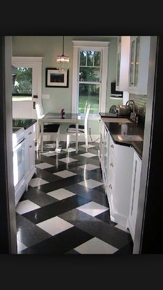Cool kitchen floor