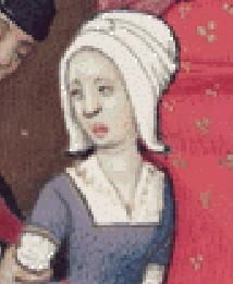 Late 15th Century White Hood or Coif – Transition Period / War of the Roses  (also known as bunny ears)