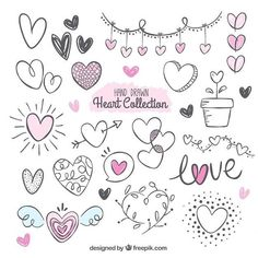 Heart doodles.  @planner.ideas