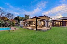 4 Bedroom house for sale in Saxonwold - Contemporary Redesign - Inviting buyers from 500 Property for sale in Gauteng, Johannesburg, Saxonwold 4 Bedroom House, Modern Homes, Property For Sale, Mansions, Contemporary, House Styles, Home Decor, Modern Houses, Decoration Home