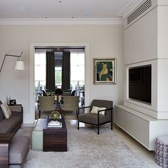 Living area with television | Stylish London home | House tour | PHOTO GALLERY | Homes & Gardens | Housetohome.co.uk